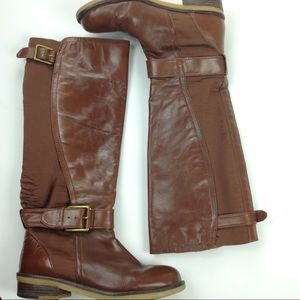 Lucky Brand Flat Knee Tall Boots Brown Sz 8